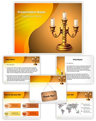 Candles Holders Editable PowerPoint Template