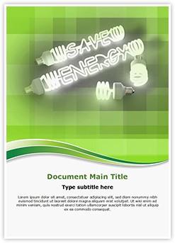 Saving energy Editable Word Template
