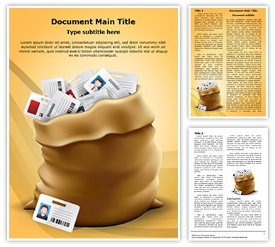 Identity Harvest Cyber Crime Editable Word Document Template