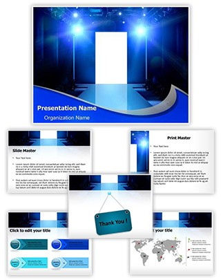 Fashion Show Stage Editable PowerPoint Template
