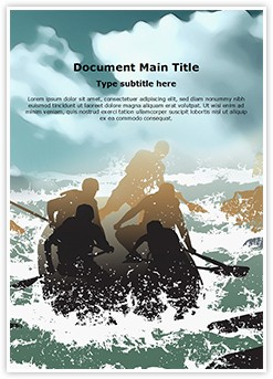 Extreme Sports Rafting Editable Word Template