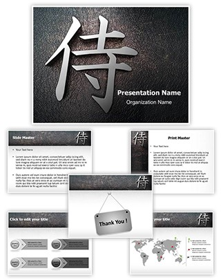 Samusai Kanji Editable PowerPoint Template