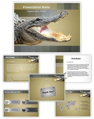 Alligator Editable PowerPoint Template