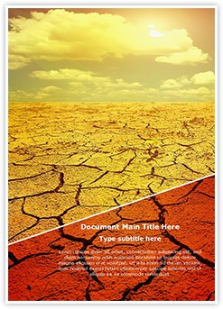 Drought Editable Word Template
