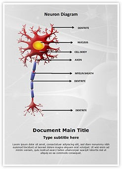 Neuron Diagram Editable Word Template