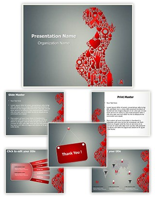 HIV Icon Editable PowerPoint Template
