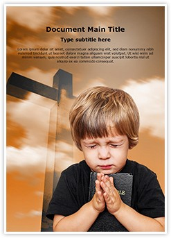 Praying Editable Word Template