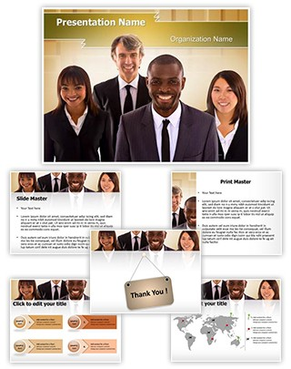 Mixed Race Team Editable PowerPoint Template