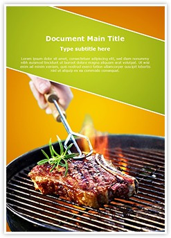 Barbecue Editable Word Template