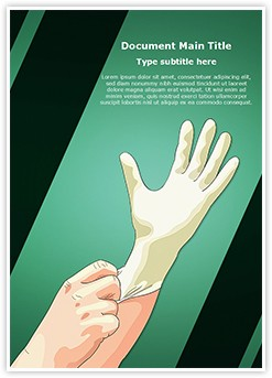 Medical Latex Gloves Editable Word Template