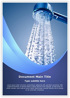 Spa Bathroom Shower Editable Word Template