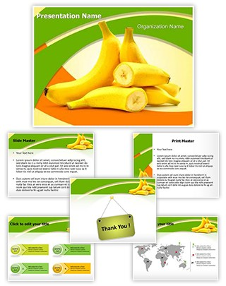 Bananas Editable PowerPoint Template