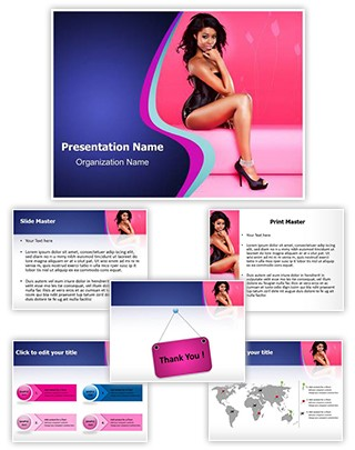 Black Women Editable PowerPoint Template