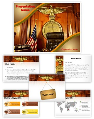 Courtroom Judge Chair Editable PowerPoint Template