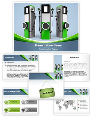 Electric Car Charging Station Editable PowerPoint Template