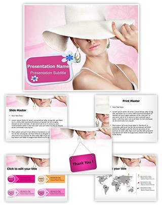 Elegant Woman Editable PowerPoint Template