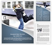 Train Station Romantic Farewell Editable Word Template