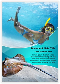 Underwater Diving Editable Word Template