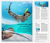 Underwater Diving Template