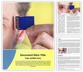 Alzheimers Computer Chip Template