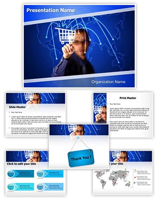 Internet Shopping Editable PowerPoint Template