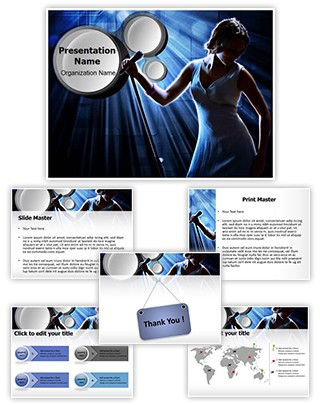 Karaoke Singer Editable PowerPoint Template