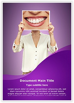 Big Smile Editable Word Template