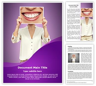 Big Smile Editable Word Document Template