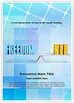 Freedom Money Balance Editable Word Template