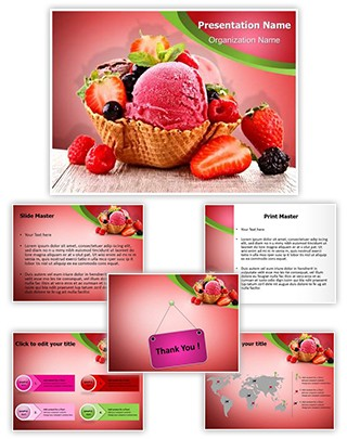 Ice Cream Berry Editable PowerPoint Template