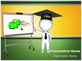 3D Insurance Lawyer Editable PowerPoint Template