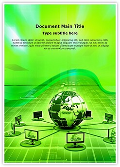 Global Computer Network Editable Word Template