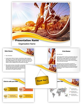 Cyclist Editable PowerPoint Template