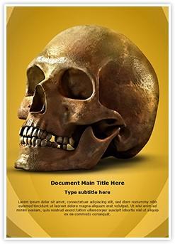 Anatomy Human Skull Editable Word Template