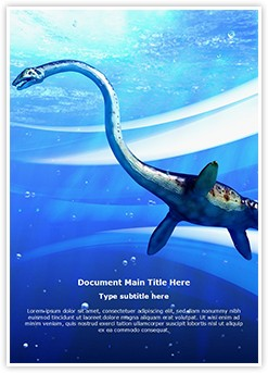 Plesiosaur Editable Word Template