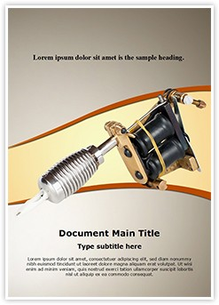 Tattoo Machine Editable Word Template