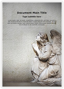 Guardian Christian Angel Editable Word Template