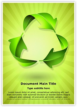 Green Recycle Concept Editable Word Template