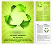 Green Recycle Concept Template