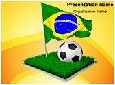 Brazil Football Worldcup Editable PowerPoint Template