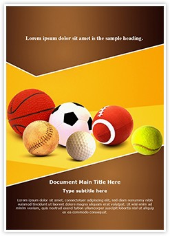 Ball Games Editable Word Template