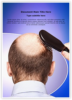 Bald Human Alopecia Editable Word Template
