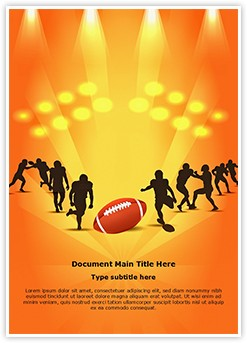 American Rugby Sports Editable Word Template