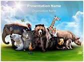 Wild Animals Editable PowerPoint Template