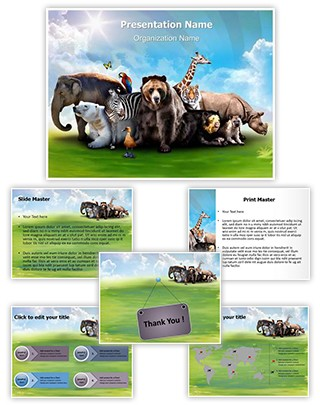 Wild Animals Editable PowerPoint Template