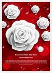 Paper White Rose