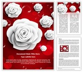 Paper White Rose Editable Word Template