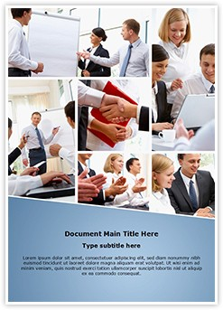 Businesspeople Teamwork Editable Word Template