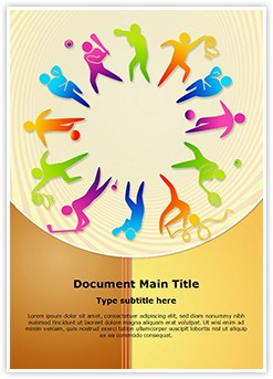 Competitive Sports Equipment  Editable Word Template