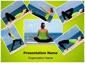 Yoga Exercises Collage PowerPoint Templates